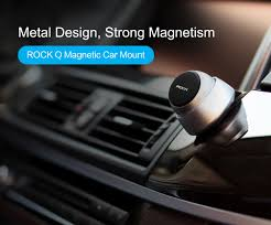 Magnetic Curtains For Car Rock 720 Degree Rotation Strong Magnetic Aluminum Car Mount Holder