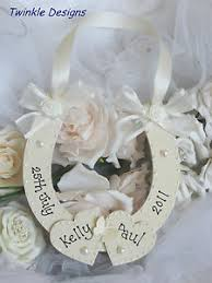 horseshoe wedding gift personalised wooden horseshoe wedding bridal keepsake shabby chic