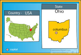 ohio on us map us state maps clipart columbus ohio state us map with capital