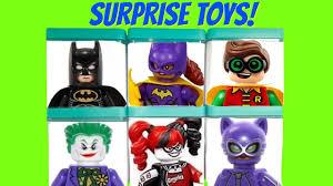 batman lego movie toy surprise boxes joker harley quinn robin