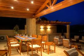 Exterior Patio Lights Teak Dining Furniture For Outdoor Patio Plan With Stylish