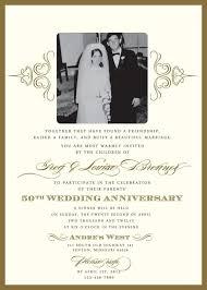 Wedding Invitation Example 50th Wedding Anniversary Invitation Wording Plumegiant Com