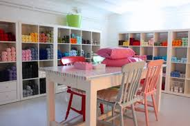 Pink Craft Room - amazing and practical craft room design ideas