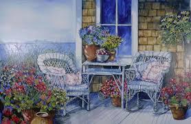misc chairs plants garden love outside window pots wicker table