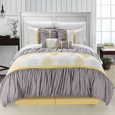 Yellow And Grey Bed Set Size Pastel Yellow Bedding