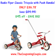 amazon black friday radio flyer tricylce radio flyer classic tricycle with push handle only 36 78