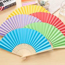 held folding fans cheap paper held fans