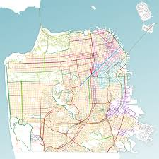 San Francisco Districts Map by Street Types Sf Better Streets
