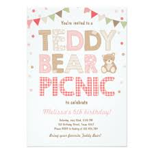 picnic birthday invitations u0026 announcements zazzle co uk