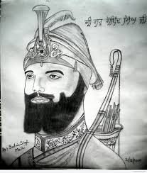 pencil sketch of shri guru gobind singh ji desipainters com
