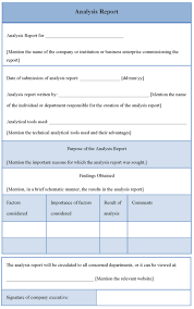 analytical report template blank data analysis report template and form for your business