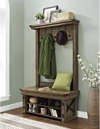 entryway hall tree coat rack storage bench hooks cubbies shelf