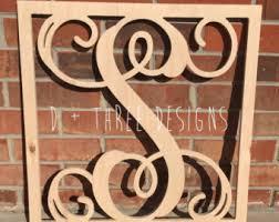 Monogram Letters Home Decor Wooden Monogram Initials Wall Hanging Nursery Decor Wood Monogram
