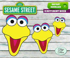 sesame street faces cut outs printables large medium and small