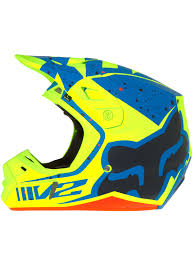 monster energy motocross helmet fox azul amarelo 2017 capacete v2 nirv mx fox freestylextreme