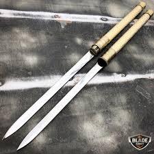 katana kitchen knives 25 samurai dual blade swords katana japanese combat