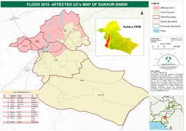 sukkur map pakistan flood 2015 affected uc s map of sukkur sindh