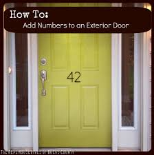 modern house door how to add awesome house numbers east coast creative blog