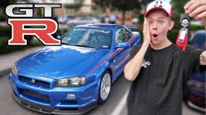 tanner fox gtr surprising tanner fox with an r34 gtr youtube
