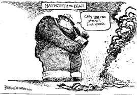 political cartoon analysis hayworth the bear www streetlaw org