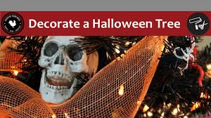 Decorated Halloween Trees How To Decorate A Halloween Tree Easy Diy Project Youtube