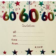 60th birthday party invitation template cimvitation