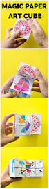 diy magic paper art cube get the free coloring templates to make
