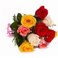 color roses send 10 mix color roses flowers online 10 mix color roses
