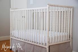 Baby Crib Bed Skirt A Free Spindle Crib Maison De Pax