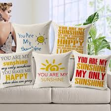 5 pcs lot you are my sunshine sofa cushion cover letter pillow