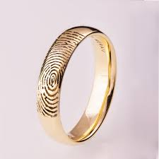 fingerprint wedding band fingerprint wedding band gold fingerprint ring fingerprint
