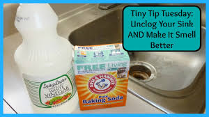 tiny tip tuesday unclog your sink and make it smell better youtube