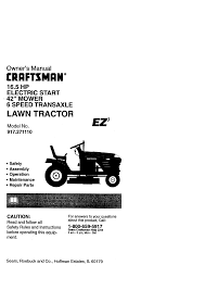 Crafstman by Craftsman Lawn Mower 917 271110 User Guide Manualsonline Com