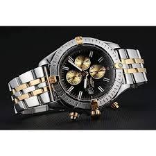 breitling gold bracelet images Breitling chronomat black dial stainless steel gold bracelet jpg