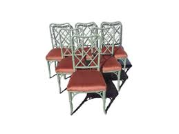 Chinese Chippendale Dining Chairs Dining Chairs Chinese Chippendale Faux Bamboo Boho Chic Hollywood