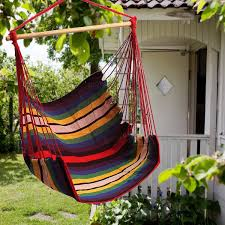 Indoor Patio Furniture by Garden Patio Hanging Thicken Hammock Chair Indoor Outdoor Cotton