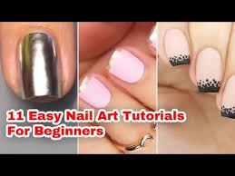 11 easy nail art tutorials for beginners youtube