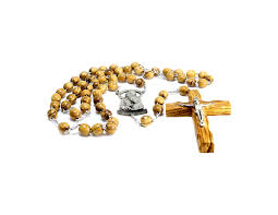 wall rosary olive wood wall rosary r113 holy land olive wood bethlehem