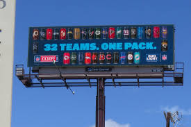 32 pack of bud light billboards get football fans pumped for the big game