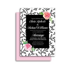 wedding invitation pouches modern romantic wedding invitation black u0026 white florals