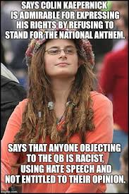 Kapernick Meme - college liberal meme imgflip