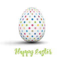 free easter cards easter card with dotted egg vector free
