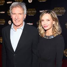 harrison ford harrison ford and calista flockhart inside their unshakable