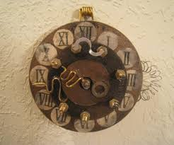 steampunk wall clock moving gears