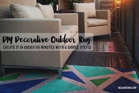 Diy Outdoor Rug Diy A Colorful Outdoor Rug Made In 90 Minutes Megan Fenno