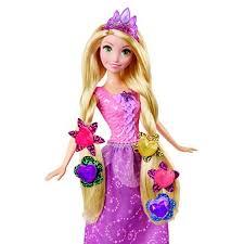 disney princess tangled gem hair styler rapunzel doll toys u0026 games