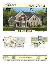 Two Floor House Plans by Plan 2987 2 The Litchfield House Plans Two Story House Plans