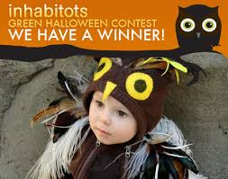 announcing the winners of the inhabitots green halloween contest
