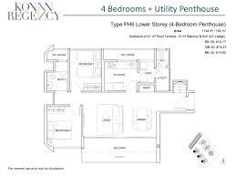 penthouse 4 bed parc vera bedroom type p1b floor plans loversiq