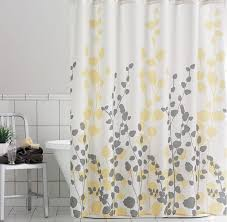 Yellow And White Shower Curtain Yellow And Gray Shower Curtain Best Curtains Design 2016